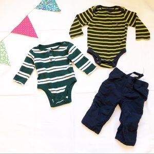 Boy Tops and Jersey Lined Cargo Pants 6-12 Months